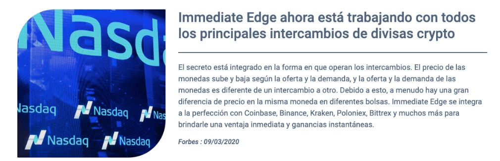 Immediate Edge como funciona