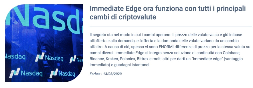 Immediate Edge come funziona