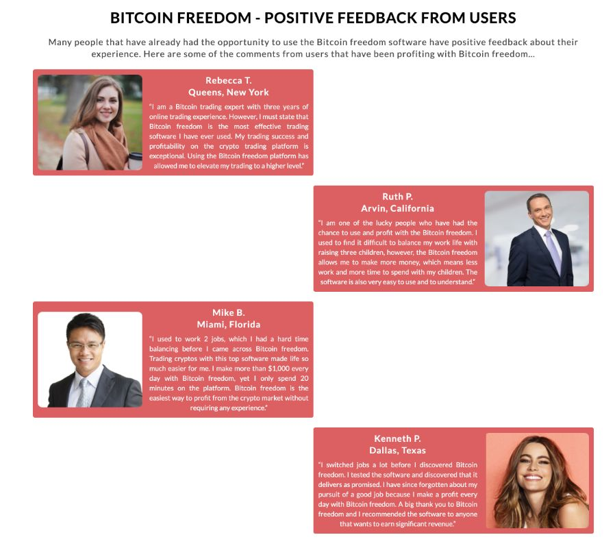 Bitcoin Freedom feedback from users