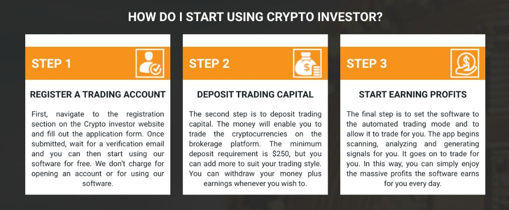 Crypto Investor steps to start